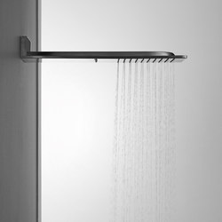 Aqua-Sense - Double-Function ShowerHead - Wall Mtd.-Rain/WaterFall/
