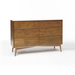 Mid-Century 6-Drawer Dresser - Acorn | Sideboards | Distributed by Williams-Sonoma, Inc. TO THE TRADE