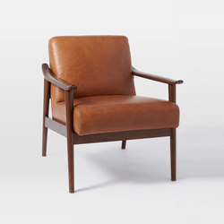 Mid-Century Leather Show Wood Chair | Lounge chairs | Distributed by Williams-Sonoma, Inc. TO THE TRADE