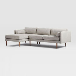 Monroe Mid-Century 2-Piece Chaise Sectional | Sofas | Distributed by Williams-Sonoma, Inc. TO THE TRADE