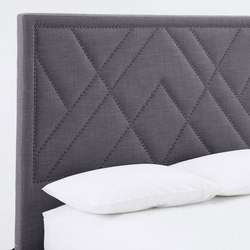 Patterned Nailhead  Upholstered Headboard | Bed headboards | Distributed by Williams-Sonoma, Inc. TO THE TRADE
