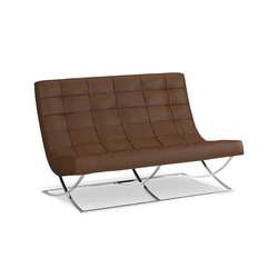 James Leather Loveseat | Lounge sofas | Distributed by Williams-Sonoma, Inc. TO THE TRADE