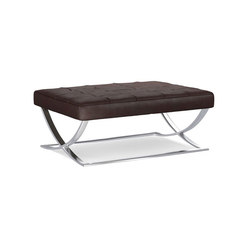 James Leather Ottoman | Pufs | Distributed by Williams-Sonoma, Inc. TO THE TRADE