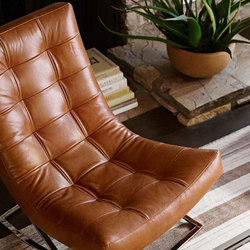 Williams-Sonoma Home | James Nickel & Leather Chair | Fauteuils d'attente | Distributed by Williams-Sonoma, Inc. TO THE TRADE