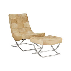Williams-Sonoma Home | James Nickel & Leather Chair/Ottoman, Hair on Hide | Lounge chairs | Distributed by Williams-Sonoma, Inc. TO THE TRADE