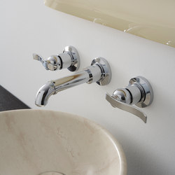 Bali - Wall-mounted basin mixer with 18,5cm spout - exposed parts | Wash basin taps | Graff