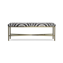 Skylar Bench, Pony Hair Zebra | Bancs | Distributed by Williams-Sonoma, Inc. TO THE TRADE