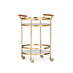 Truman Round Bar Cart | Carrelli portavivande / carrelli bar | Distributed by Williams-Sonoma, Inc. TO THE TRADE