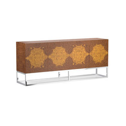 Wythe Burled Wood Double Console | Aparadores | Distributed by Williams-Sonoma, Inc. TO THE TRADE
