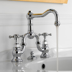 Canterbury - Three-hole washbasin mixer | Wash basin taps | Graff
