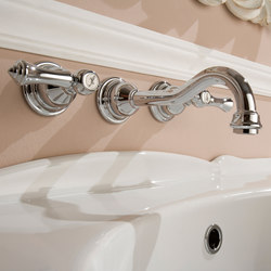Nantucket - Wall-mounted basin mixer with 19cm spout - exposed parts | Wash basin taps | Graff
