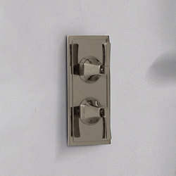 "Finezza - 3/4"" Concealed thermostat and diverter with 2 outlets- exposed parts 