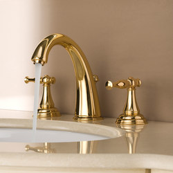 Lauren - Three-hole washbasin mixer | Grifería para lavabos | Graff