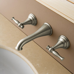 Lauren - Wall-mounted basin mixer with 17cm spout - exposed parts | Waschtischarmaturen | Graff