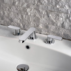 Phase - Three-hole washbasin mixer | Wash basin taps | Graff