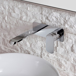 Phase - Wall-mounted basin mixer with 23,5cm spout - exposed parts