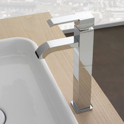 Qubic - Single lever basin mixer high - 12cm spout | Wash basin taps | Graff