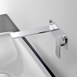 Sento - Wall-mounted basin mixer with 19,1cm spout - exposed parts