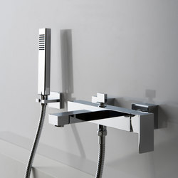 Solar - Wall-mounted bath & shower mixer with hand shower set