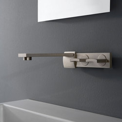 Targa - Wall-mounted basin mixer with 20cm spout