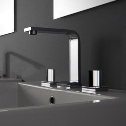 Targa - Three-hole washbasin mixer