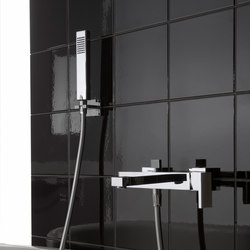 Targa - Wall-mounted bath & shower mixer with hand shower set
