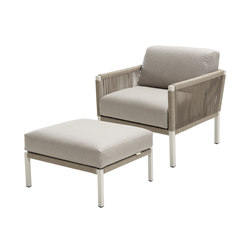 Club Lounge Chair and Footstool | Garden armchairs | solpuri