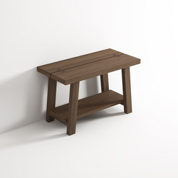 Stool with shelf | Badhocker / Badbänke | Idi Studio