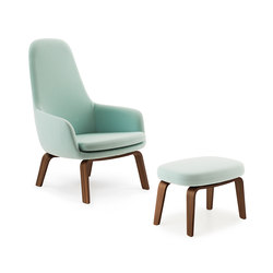 Era Lounge Chair High & Footstool | Sillones lounge | Normann Copenhagen