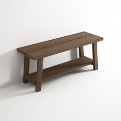 Bench with shelf | Badhocker / Badbänke | Idi Studio