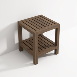 Stool with shelf | Taburetes / Bancos de baño | Idi Studio