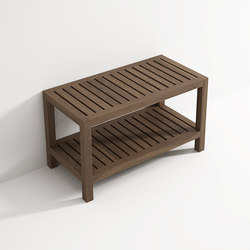 Bench with shelf | Tabourets / bancs salle de bain | Idi Studio
