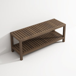 Bench with shelf | Taburetes / Bancos de baño | Idi Studio