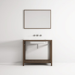 Âme cabinet 1 shelf integrated washbasin | Vanity units | Idi Studio