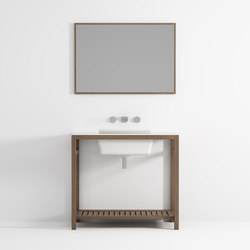Âme cabinet integrated laundry washbasin | Meubles lavabos | Idi Studio