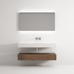 Iceberg cabinet 1 drawer 2 racks washbasin | Mobili lavabo | Idi Studio