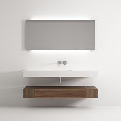 Iceberg cabinet 1 drawer 2 racks washbasin | Meubles lavabos | Idi Studio