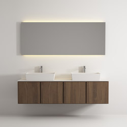 Move hanging cabinet 4 doors double washbasin | Meubles sous-lavabo | Idi Studio