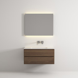 Move hanging cabinet 2 drawers integrated washbasin | Meubles sous-lavabo | Idi Studio
