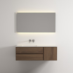Move hanging cabinet 2 drawers 1 right door single integrated washbasin | Meubles sous-lavabo | Idi Studio