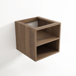 Move hanging cabinet 2 niches | Bath shelving | Idi Studio