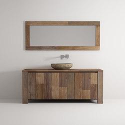 Organic cabinet 3 doors | Waschtischunterschränke | Idi Studio