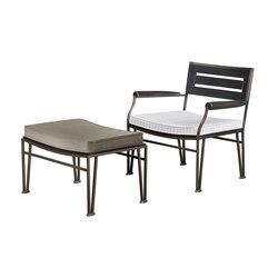 Cernobbio armchair with pouf | Garden armchairs | Promemoria