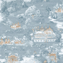 RATCHA - Toile de Jouy wallpaper MUZE 204-701 | Wall coverings / wallpapers | e-Delux