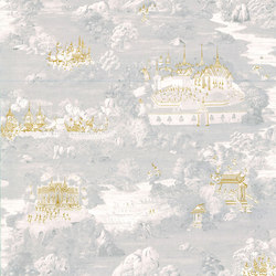 RATCHA - Toile de Jouy wallpaper MUZE 204-702 | Wallcoverings | e-Delux
