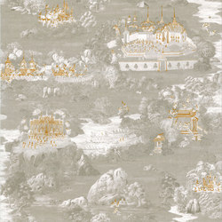 RATCHA - Toile de Jouy wallpaper MUZE 204-703 | Wall coverings | e-Delux
