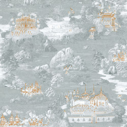 RATCHA - Toile de Jouy wallpaper MUZE 204-704 | Wallcoverings | e-Delux