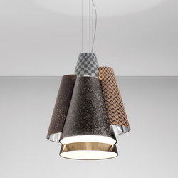 Melting Pot SP 60 dark patterns with diffusers and silver inside | Allgemeinbeleuchtung | Axo Light
