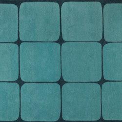 Cubes aqua | Tapis / Tapis design | Kateha