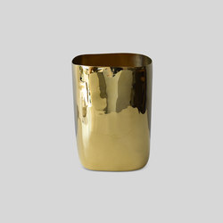 Workspace | Square Wastebasket Brass | Pattumiere | Tina Frey Designs